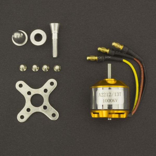 Motor eléctrico Brushless A2212/1000Kv 13T Genérico - 1