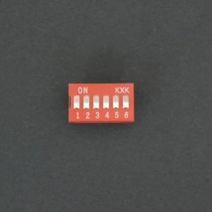 DIP Switch de 6P Rojo Genérico - 3