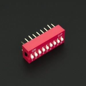 DIP Switch de 9P Rojo Genérico - 3