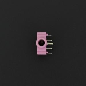 Conector Jack Estéreo Hembra Rosado PJ307G 3.5 mm Para PCB  Genérico - 2
