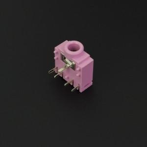 Conector Jack Estéreo Hembra Rosado PJ307G 3.5 mm Para PCB
