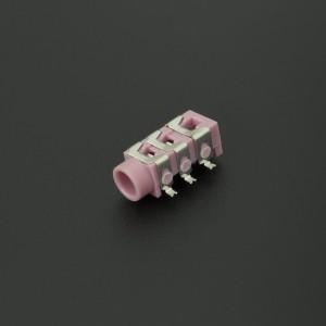 Conector Jack Estéreo Hembra Rosado PJ313D 3.5 mm Para PCB