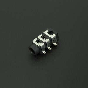 Conector Jack Estéreo Hembra Negro PJ313D 3.5 mm Para PCB
