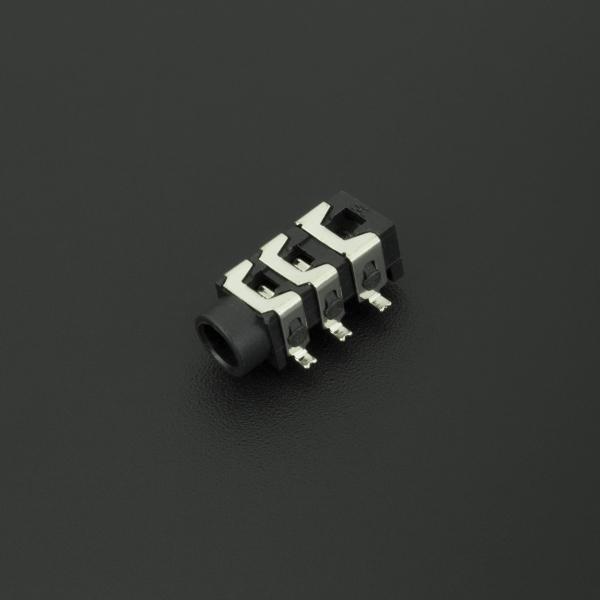 Conector Jack Estéreo Hembra Negro PJ313D 3.5 mm Para PCB  Genérico - 1