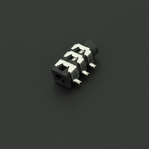 Conector Jack Estéreo Hembra Negro PJ313D 3.5 mm Para PCB  Genérico - 4
