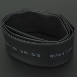 Tubo Termoencogible Negro 25 mm 1 Metro Genérico - 1