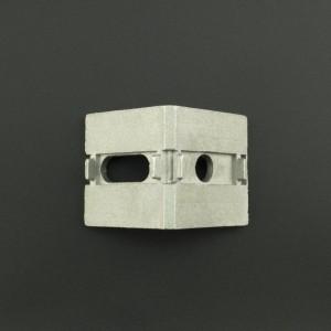 Ángulo Esquinero con Agujero Ovalado/Redondo Para Perfil de Aluminio 40x40 Genérico - 2