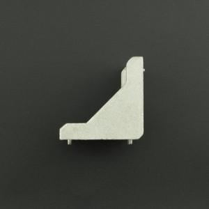 Ángulo Esquinero con Agujero Ovalado/Redondo Para Perfil de Aluminio 40x40 Genérico - 3