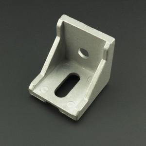 Ángulo Esquinero con Agujero Ovalado/Redondo Para Perfil de Aluminio 40x40 Genérico - 4