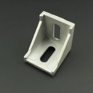 Ángulo Esquinero con Agujero Ovalado/Ovalado Para Perfil de Aluminio 40x40 Genérico - 1