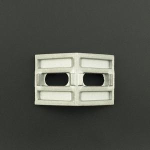 Ángulo Esquinero con Agujero Ovalado/Ovalado Para Perfil de Aluminio 40x40 Genérico - 2